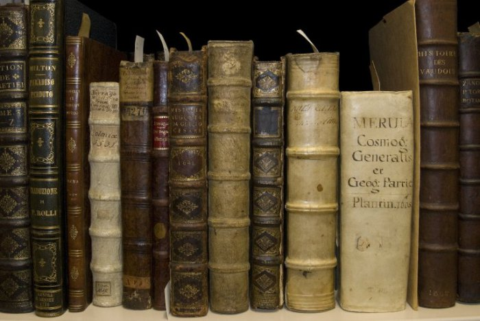 Books in the vault, Deck C, Folger Shakespeare Library, 9/11/09