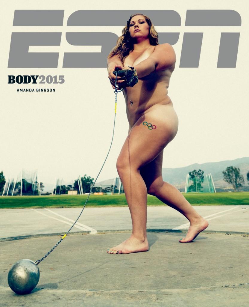 Foto: Peter Hapak Amanda Bingson Lanzamiento de martillo, tiene el récord de EUA, 25años, 1.70m, 95kg.