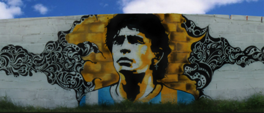 grafitti maradona
