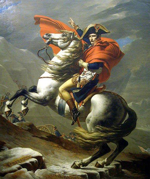 napoleón cruzando los alpes