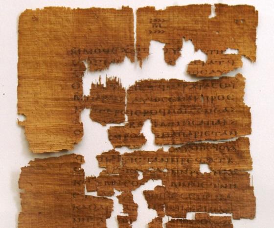 Muestra del Evangelio de Judas Iscariote escrito en copto