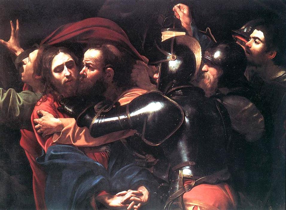 Caravaggio El prendimiento de Cristo.