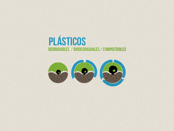 Plásticos degradables, biodegradables y compostables