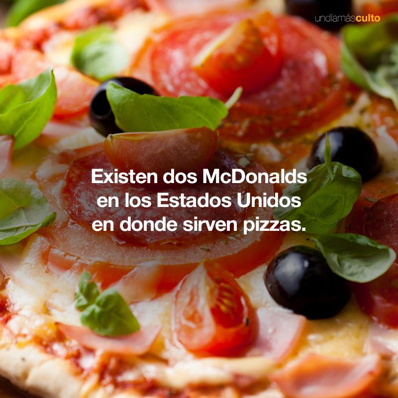 Pizzas McDonalds
