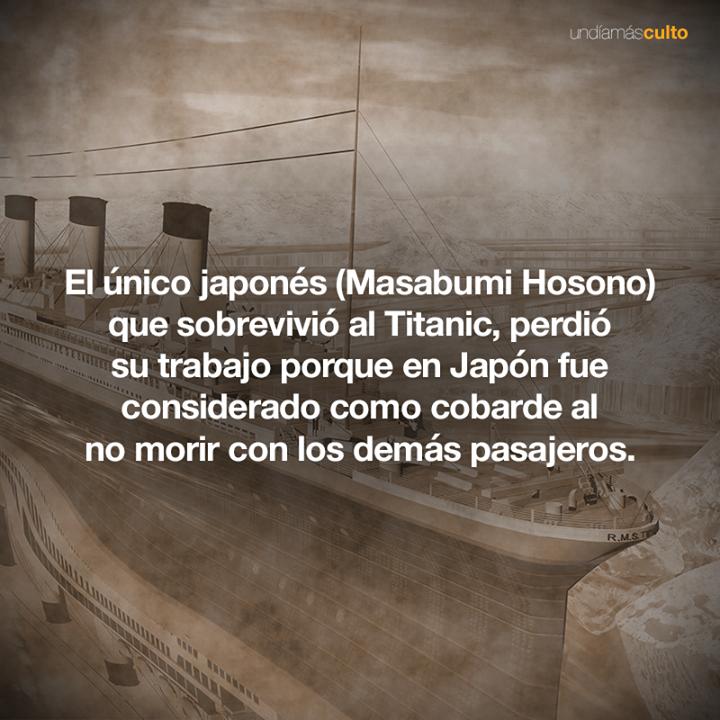 Japonés sobreviviente del Titanic
