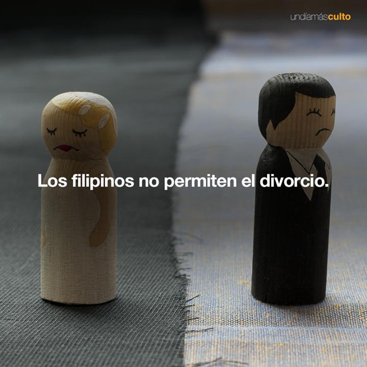 Filipinos no permiten el divorcio