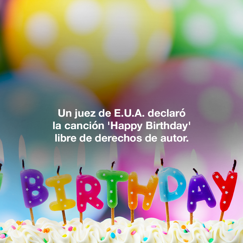 Derechos de autor de Happy Birthday