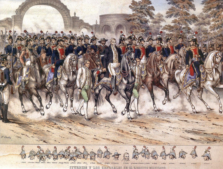 Iturbide y los Generales del Ejército Trigarante