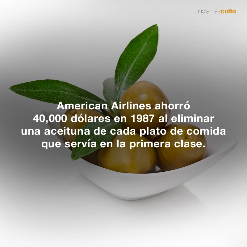 American Airlines-aceitunas