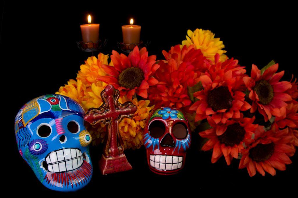 El tradicional altar de muertos