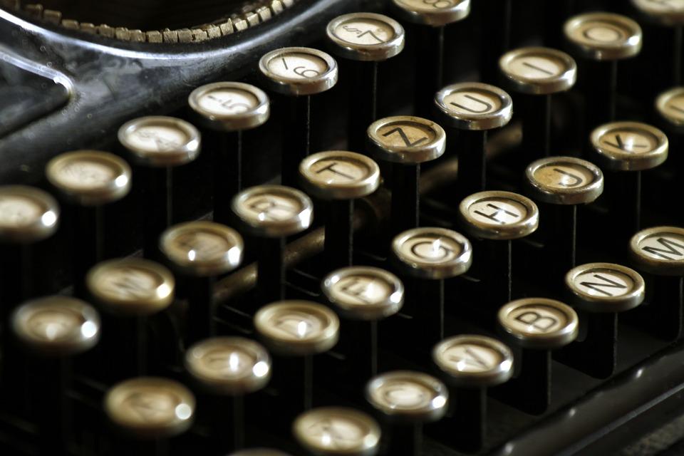 Keyboard Keys Letters Typewriter Typing Writer