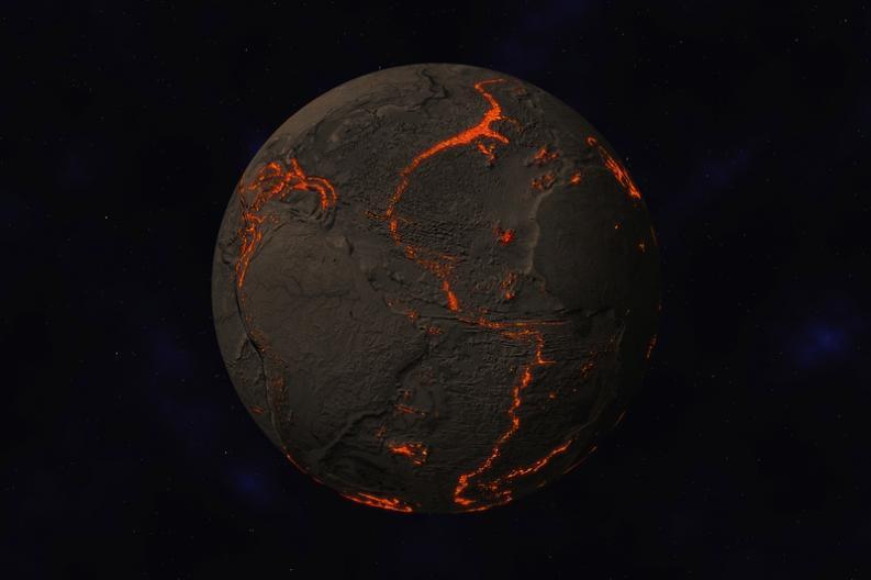 La Tierra sin placas tectónicas
