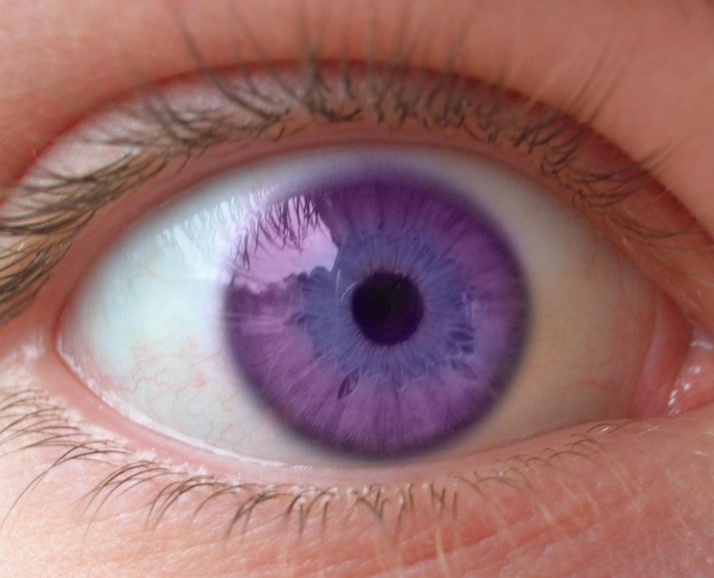¿Existen los ojos de color violeta?