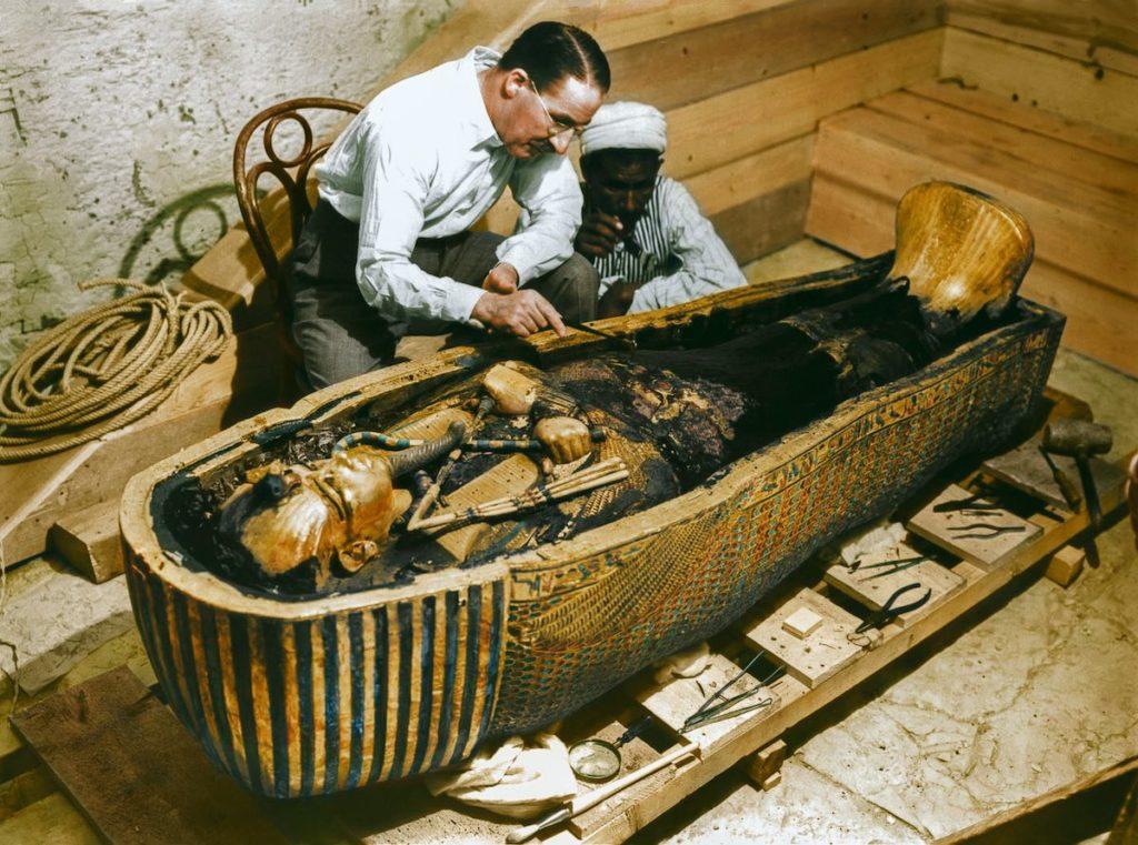El sarcófago de Tutankamón