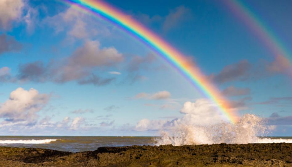 El espectro visible del Arco Iris